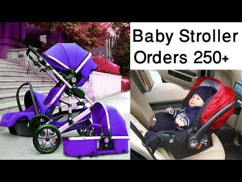 baby-stroller-3-in-1-with-car-seat,-four-wheels-stroller---best-baby-stroller-2018