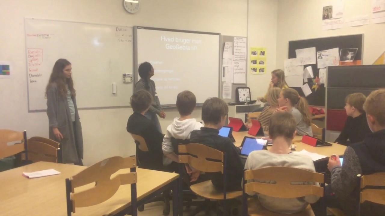 Udskolingen underviser elever på 6. årgang i matematikprogrammet GeoGebra