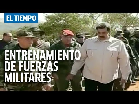 Maduro hace demostración de fuerza militar I EL TIEMPO