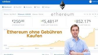 Ethereum ohne Gebühren Kaufen. Schritt für Schritt Anleitung.