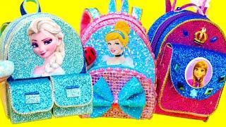5 DIY Miniature Disney Princess Backpacks
