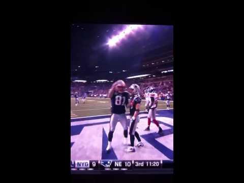 Aaron Hernandez SuperBowl Touchdown And Celebration