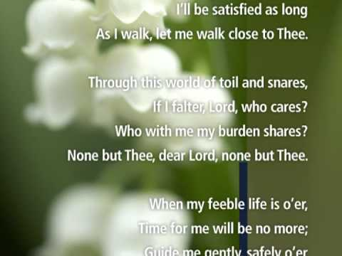 Just a Closer walk with Thee with Lyrics - Visual Worship !
