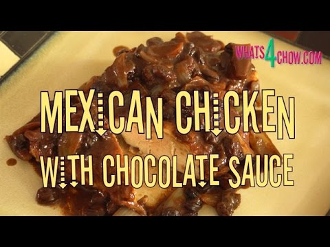 Mexican Chicken with Chocolate Sauce. Succulent Chicken Breasts with a Rich Cocoa Sauce.