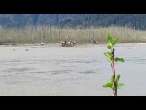 Fraser River Gravel Mining Seabird Island, March 16, 2015