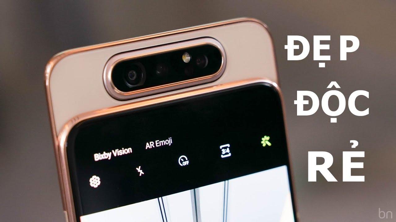 SIÊU PHẨM Galaxy A80: 14 triệu có Snapdragon 7150, Ram 8GB, Camera trượt độc đáo