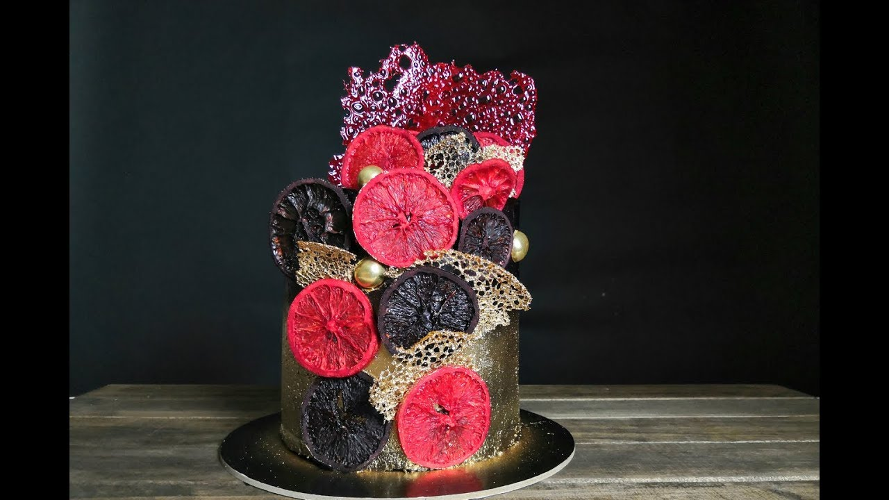 Торт КАБАРЕ / Как украсить торт - YouTube