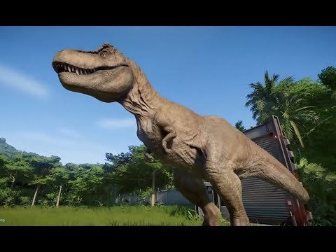 Dinossauro Rex Vs Dinossauros Carnivoros Jurassic World Evolution
