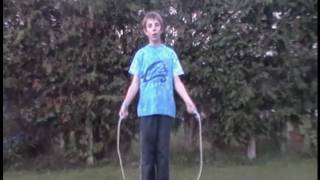 How to do the cross cross jump rope trick.