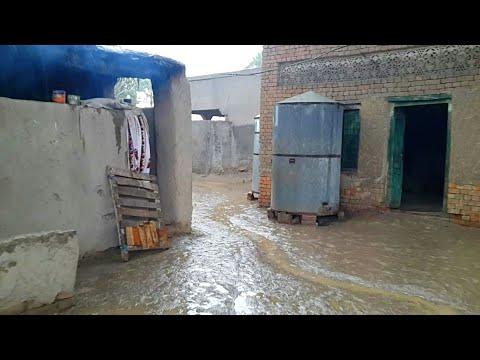 Rain In Punjab   PAKISTANI Village Rural Life