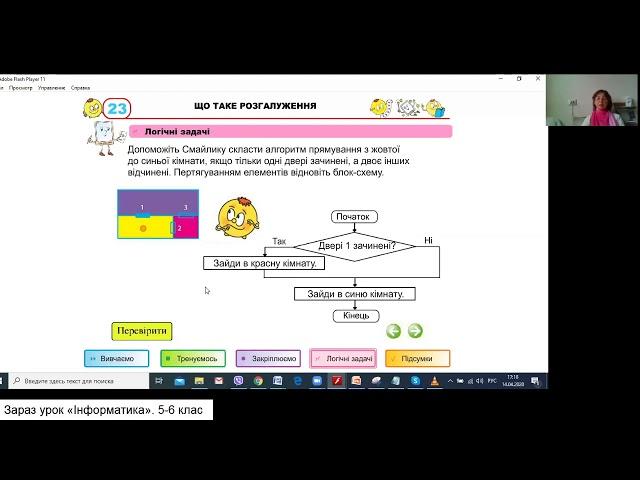 5 клас. Інформатика. Поняття розгалуження. Висловлювання