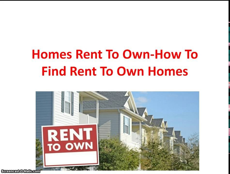 Home Rent To Own - How To Find Rent To Own Homes - YouTube