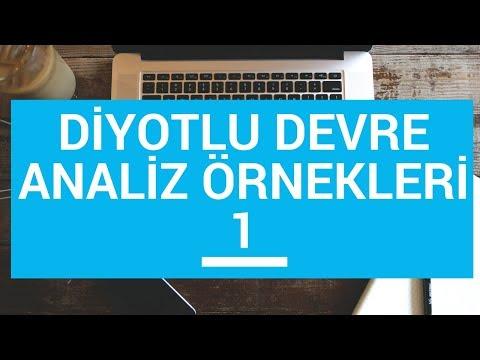 Analog Elektronik Ders 6: Diyotlu Devre Analiz Örnekleri 1