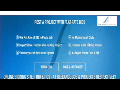 Welcome To Flat Rate Bids For Your Online Job