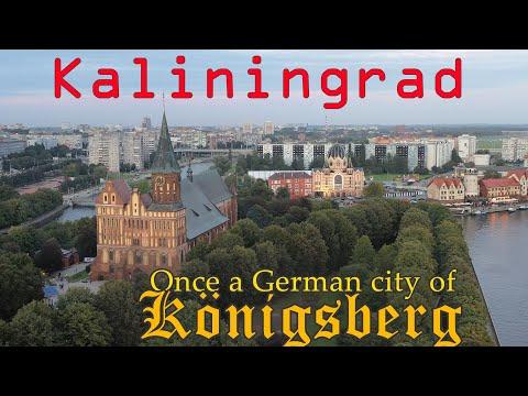 Kaliningrad Russia 4K.  Russian People and German Heritage