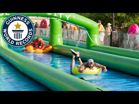 Longest distance travelled on a slip and slide - Guinness World Records
