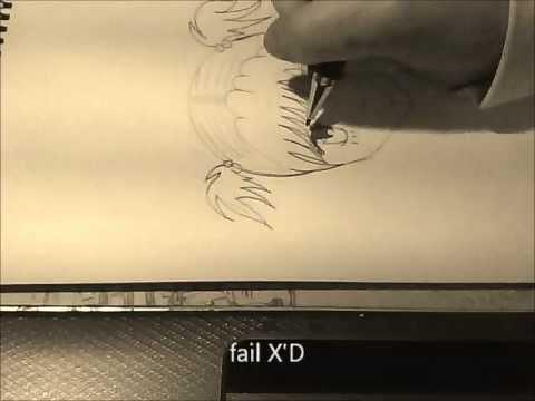 Eine Manga-Gesicht im Profil zeichnen