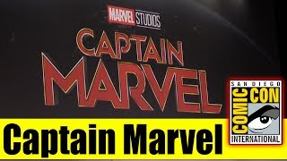 CAPTAIN MARVEL | Comic Con 2017 Panel, News, and HUGE Villain Announcement