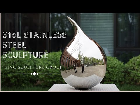 mirror stainless steel sculpture, polished stainless steel statue for artist