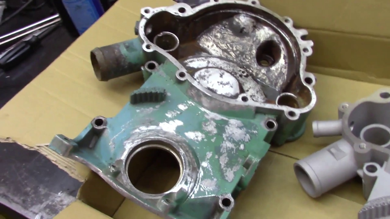 pontiac 455 oil pan and timing chain cover install [ 1280 x 720 Pixel ]