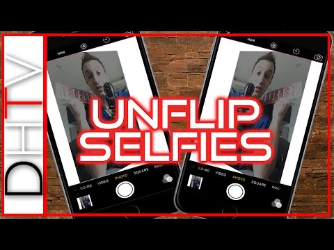 How To Unflip Selfies (Photos) On iPhone - Mirrored Or Backwards