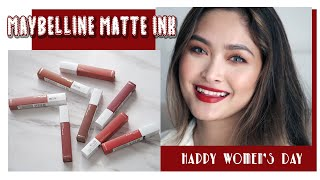 MAYBELLINE SUPERSTAY MATTE INK - SWATCH & REVIEW 8 MÀU SON | Cin City