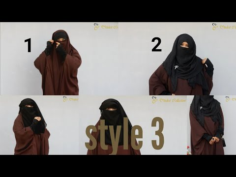 3 Styles With 1 Jilbab| Full Coverage Jilbab Styles Tutorial With Niqab ft Modest Collection|NiqaBee