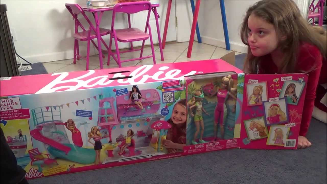 BARBIE Sisters39 Cruise Ship QuotUnboxing Setup Amp Playquot 5
