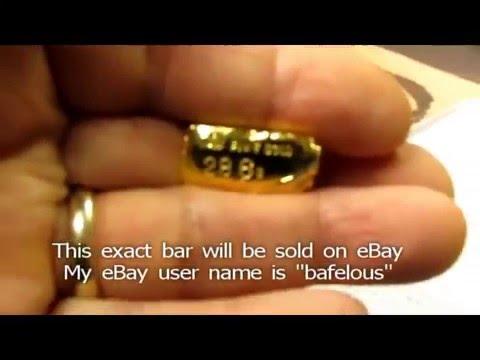 Gold Melting 999 Fine Gold Hand Poured Bar