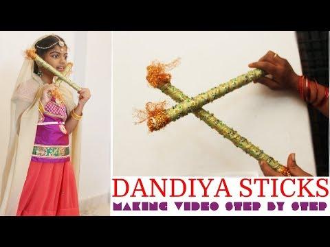 how to make Dandiya Kolatam Sticks from waste newspaper Dandiya  Sticks  making 2018