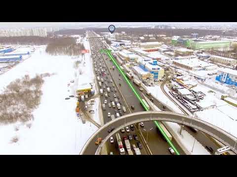 Движение по Внешней стороне МКАД с запада на юг в Автоцентр Сити-Каширка