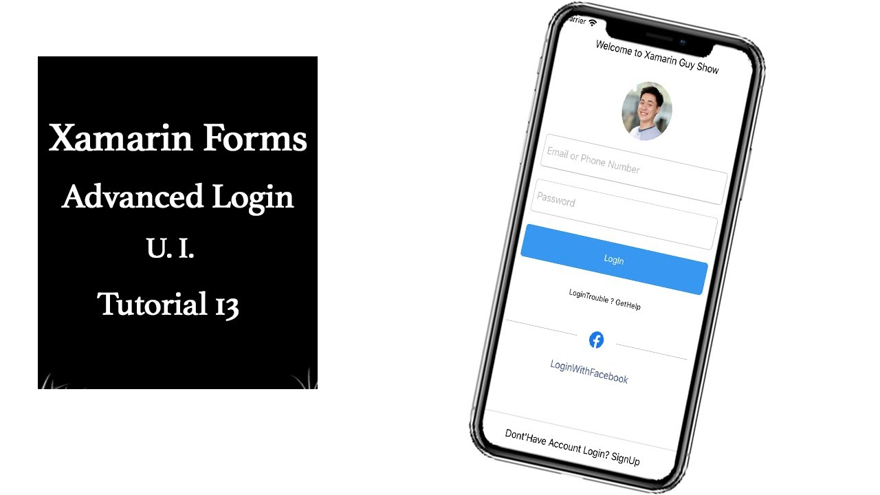 xamarin forms advanced login page ui design tutorial 13 youtube