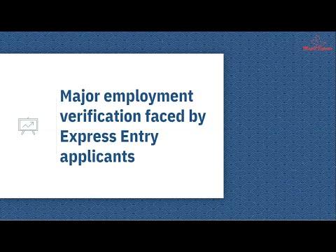 🇨🇦 🇨🇦 Employment Verification By Visa Office