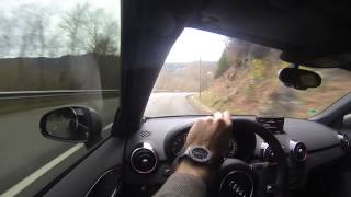 audi s1 sportback 305hp sport pov driving dynamic mode and esp off