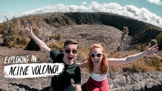 We Visited an ACTIVE VOLCANO! & Tried Hawaiian FISH & CHIPS! 🐟 (Big Island, Hawaii)