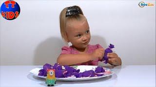 ✿ Миньоны Конфетки - Игрушки Видео для детей Маленькая девочка Ярослава Minions toys Серия 15