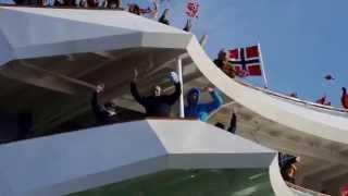 Trondheim 04. März 2014   Geburtstagsständchen der MS Nordkapp