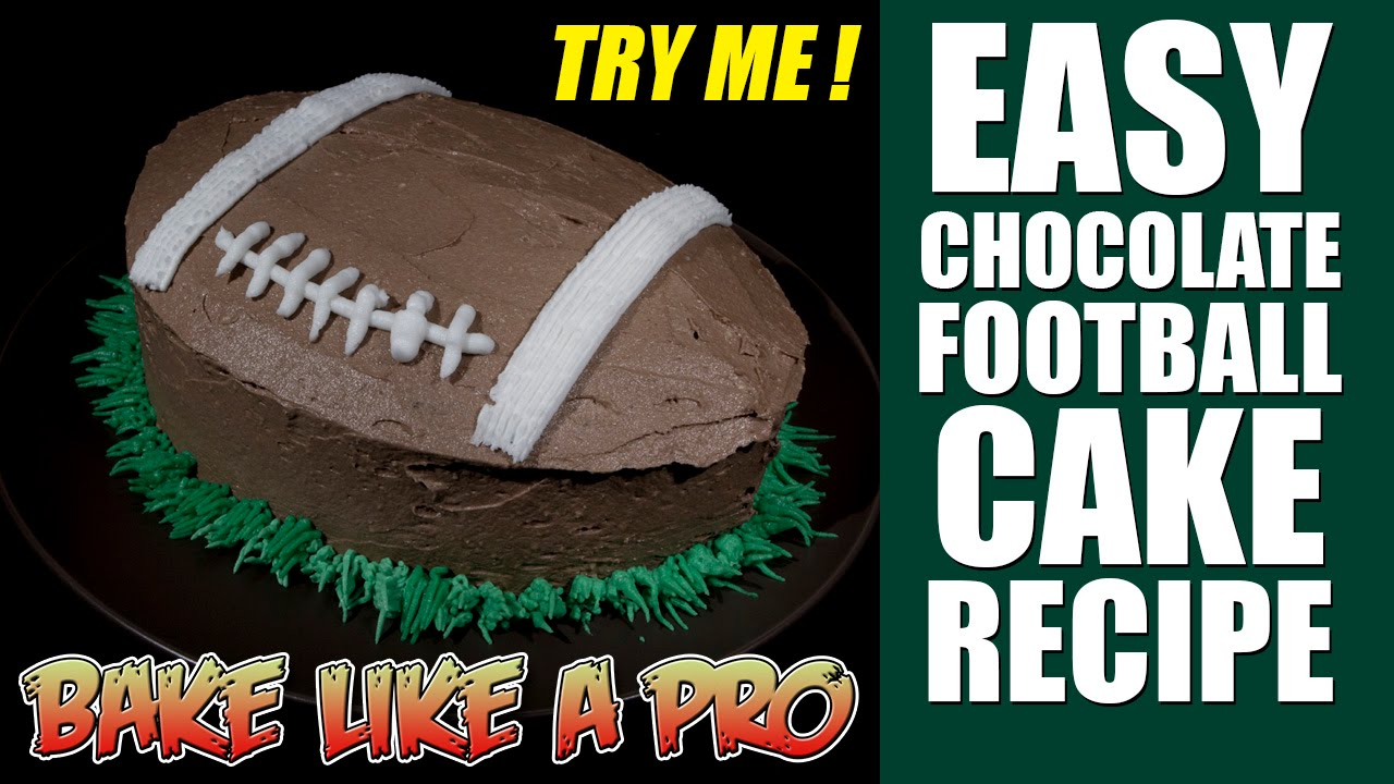 How To Make Football Cake Video