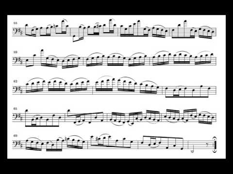 J. S. Bach Cello Suite n. 6 BWV 1012 - 3. Courante - Piano Transcription [tbpt8]