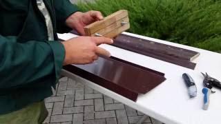 видео отливы для цоколя и окон
