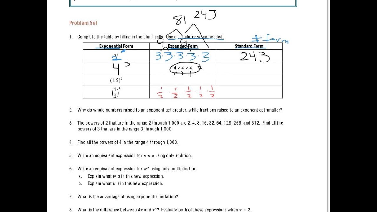 small resolution of Exponents (solutions