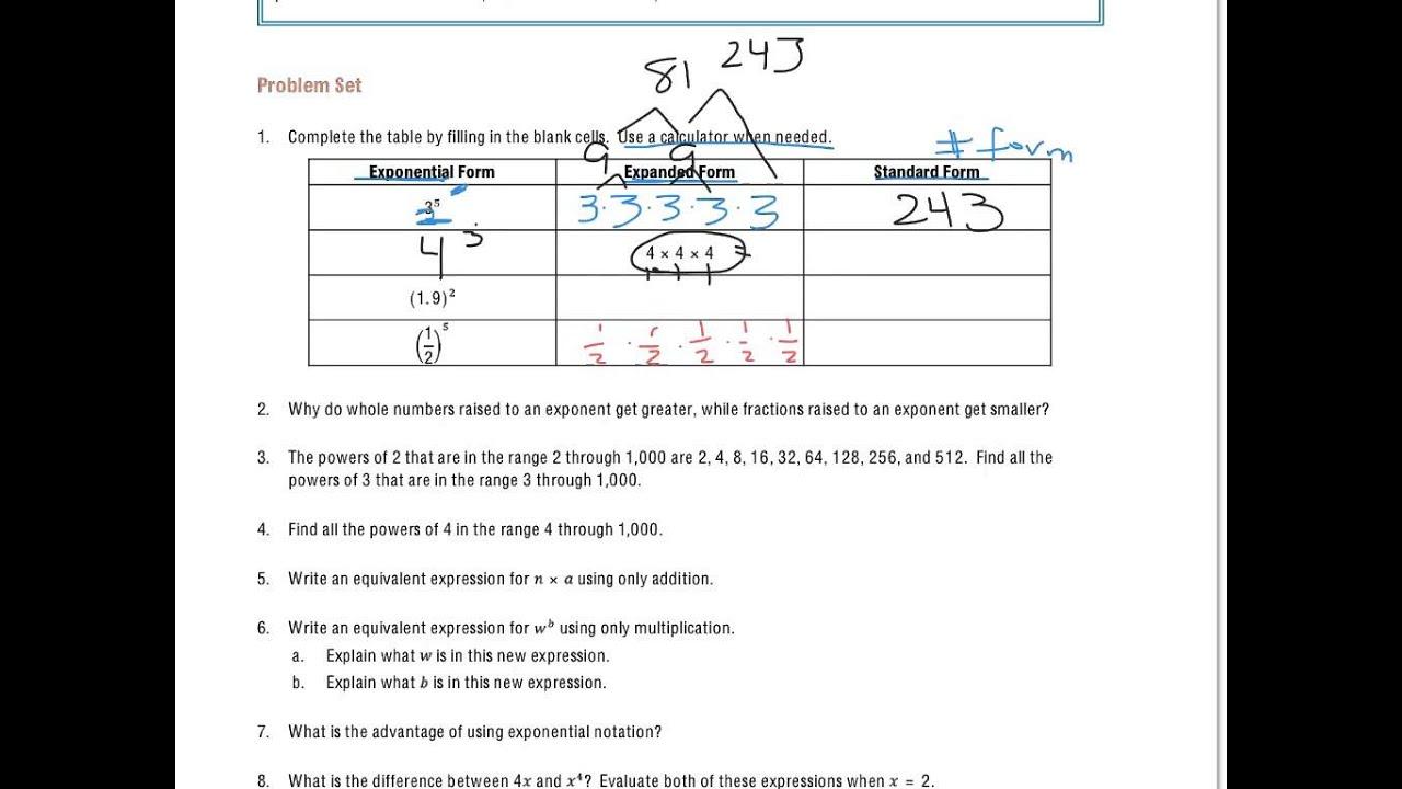 Grade 6 Module 4 Lesson 5 Problem Set