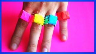 оригами кольцо как сделать из бумаги кольцо  //  origami ring