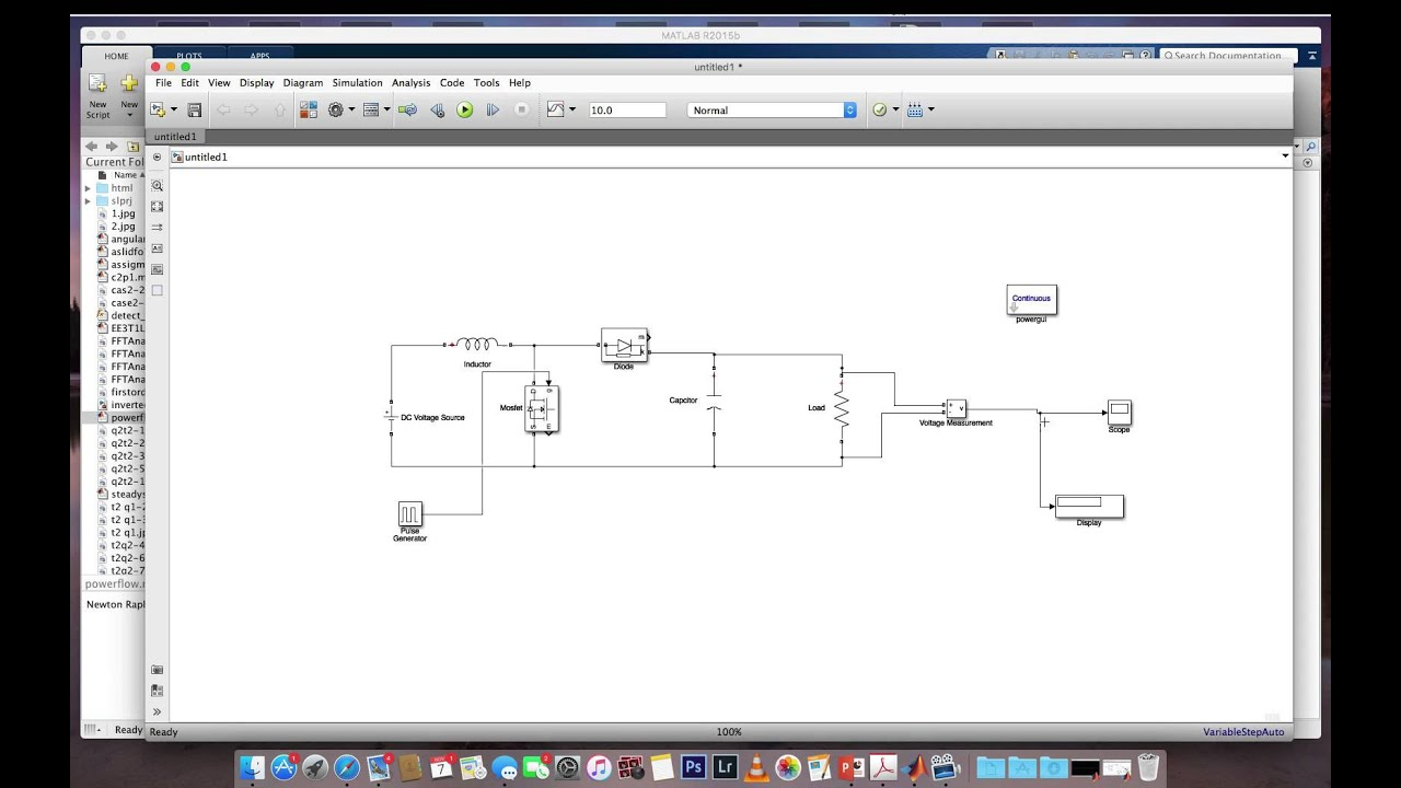hight resolution of boost converter simulation using simulink matlab dc dc step up converter