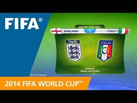 England v. Italy - Teams Announcement