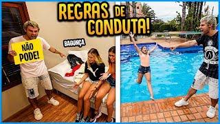 REGRA DE CONDUTA NA CASA = CAIR NA PISCINA!! ( NOVA BRINCADEIRA ) [ REZENDE EVIL ]