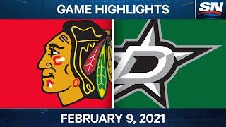 NHL Game Highlights | Blackhawks Vs. Stars - Feb. 9, 2021