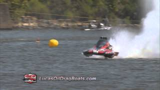 Epic drag boat crash in Marble Falls, Texas