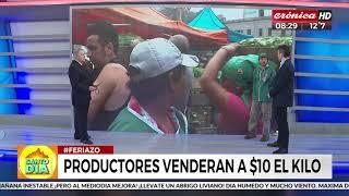 Feriazo en Plaza de Mayo: Venderán verduras a diez pesos el kilo (2 de 2)