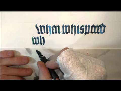 Multi-colour calligraphy